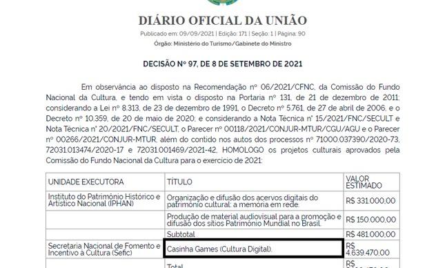 DOU - Casinha Games