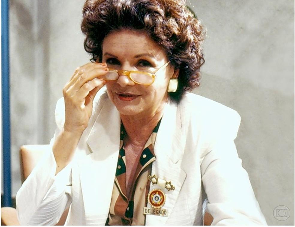 """Eloísa Mafalda em """"Delegacia de Mulheres"""", de 1990 (Foto: Reprodução/Memória Globo)"""