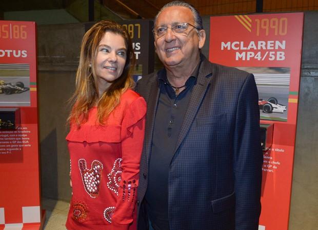 Galvão Bueno e a mulher, Desirèe Soares (Foto: Francisco Cepeda/AgNews)