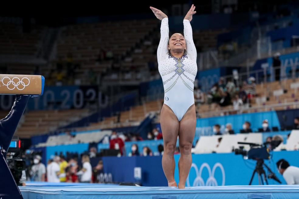 Flávia Saraiva nas Olimpíadas de Tóquio — Foto: Ricardo Bufolin/CBG