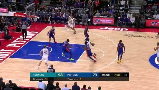 Em noite de Tony Parker, Charlotte Hornets vence o Detroit Pistons fora de casa