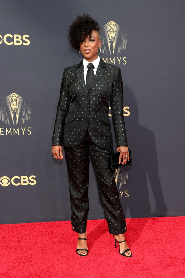 LOS ANGELES, CALIFORNIA - SEPTEMBER 19: Samira Wiley attends the 73rd Primetime Emmy Awards at L.A. LIVE on September 19, 2021 in Los Angeles, California. (Photo by Rich Fury/Getty Images) (Foto: Getty Images)