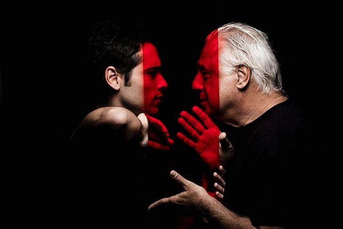 Bruno e Antonio Fagundes juntos na peça 'Vermelho' (Foto: Gabriel Wickbold)