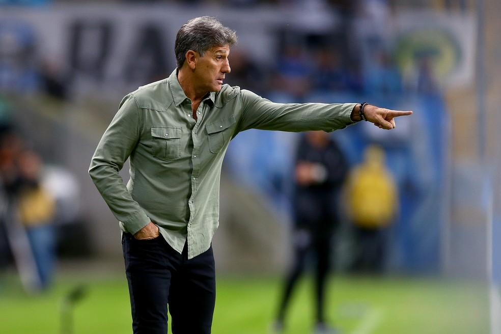 Vitória do Grêmio teve dedo direto de Renato — Foto: Lucas Uebel/Grêmio