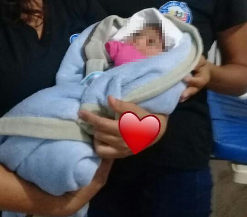 Bebê foi abandonada em hospital no interior do Tocantins — Foto: Divulgação
