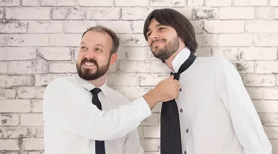 Aplicativo amigável: Marcio Acorci e Daniel Tamiosso da Mecasei.com: inteligência artificial para ajudar o casal (Foto: Editora Globo)