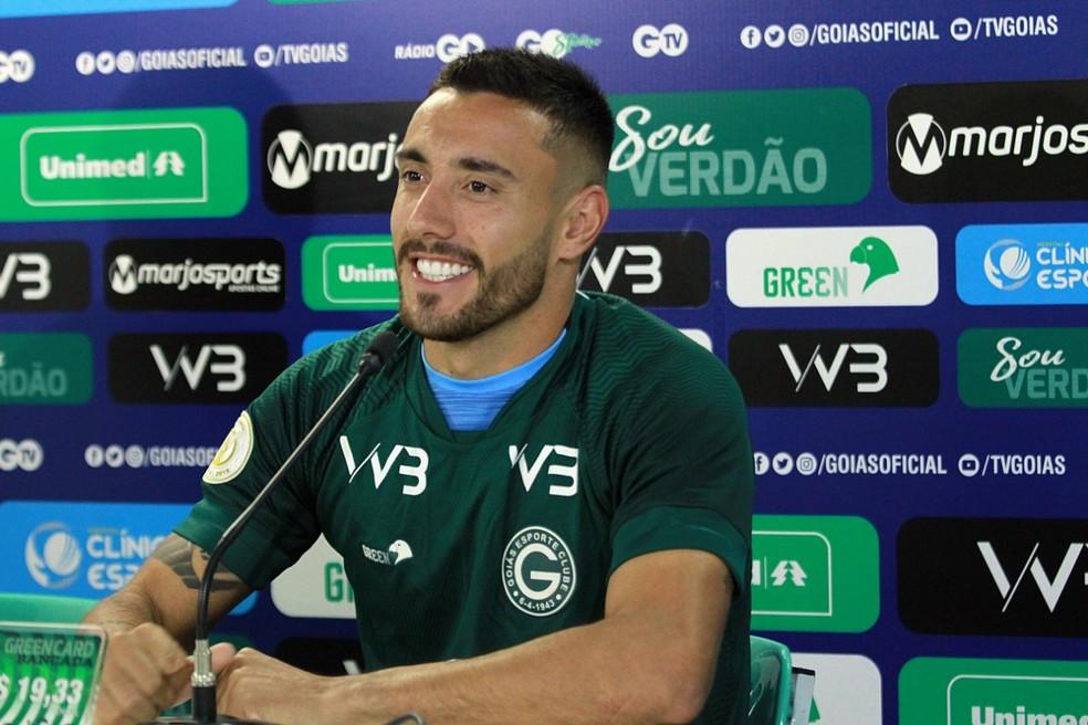 Alan Ruschel poderá estrear no próximo domingo, contra o Fortaleza — Foto: Rosiron Rodrigues / Goiás E.C.