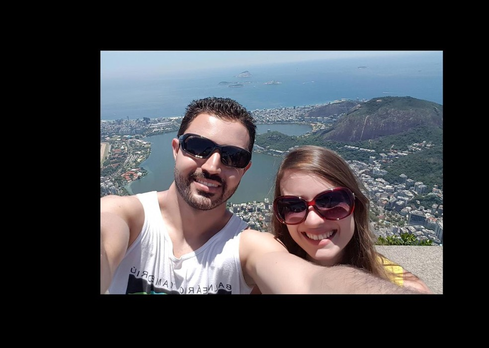 Gabriel e Raquel estavam no apartamento que explodiu e pegou fogo; os dois foram internados com queimaduras pelo corpo â?? Foto: Reprodução/Facebook