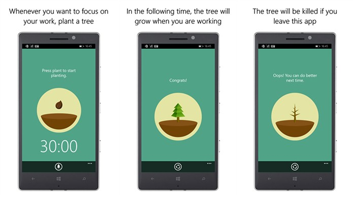 Forest ajuda usuário a ficar longe de smartphone de forma criativa (Foto: Divulgação/Windows Store)