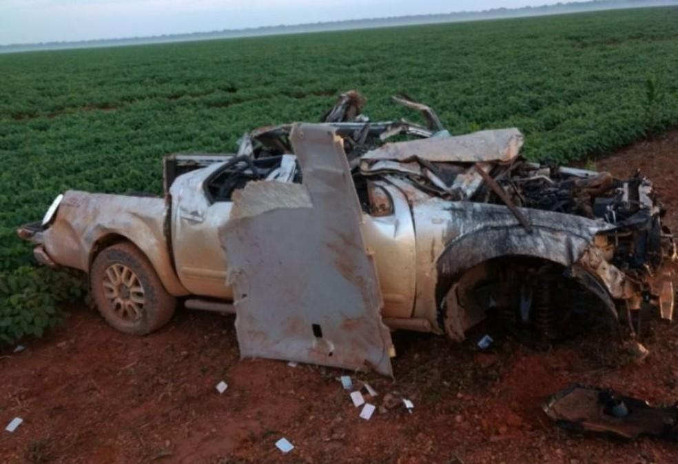Acidente que matou dois adolescentes e um jovem ocorreu na MT-423, na zona rural de Sinop (Foto: Divulgação)