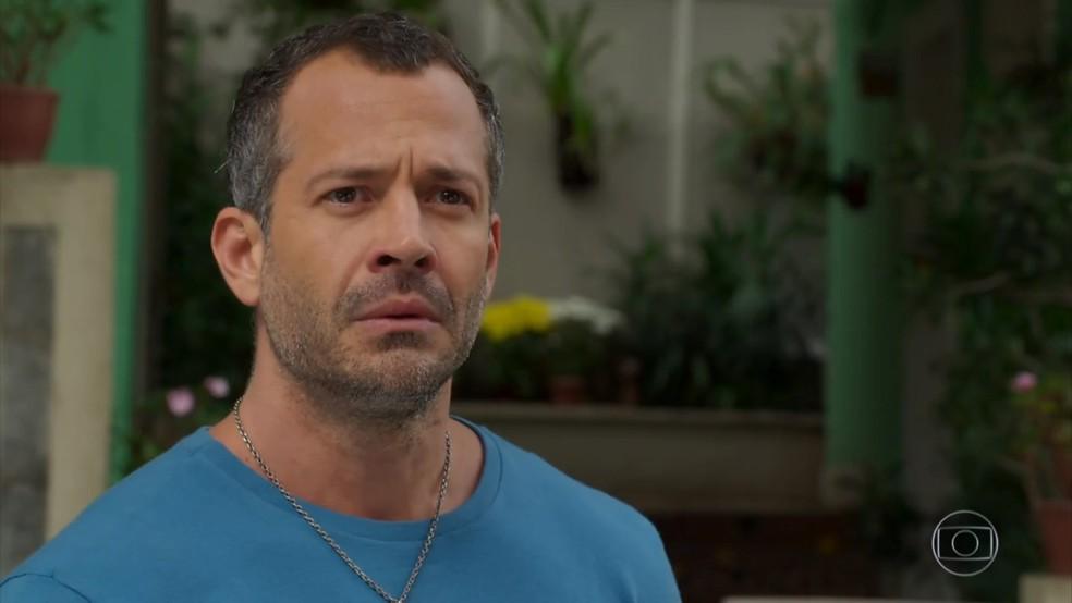 Apolo (Malvino Salvador) se entristece com reação de Tancinha (Mariana Ximenes) - 'Haja Coração' — Foto: Globo