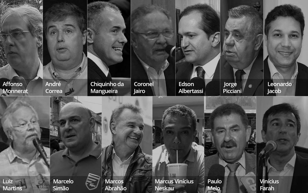 Alguns dos alvos da Operação Furna da Onça — Foto: Reprodução/TV Globo e Editoria de Arte/G1