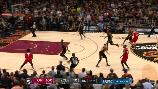 Espetacular! Com arremesso da vitória, LeBron volta a aterrorizar os Raptors
