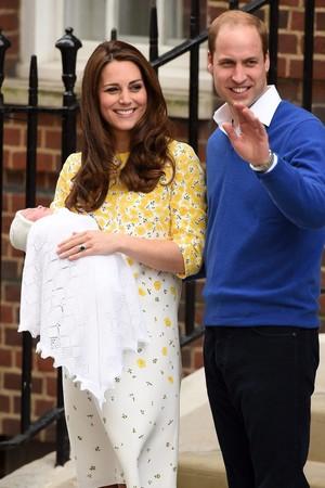 Kate, poucas horas após o nascimento da princesa Charlotte em 2015 (Foto: Getty)
