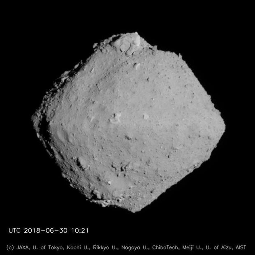 Asteroide Ryugu — Foto: JAXA