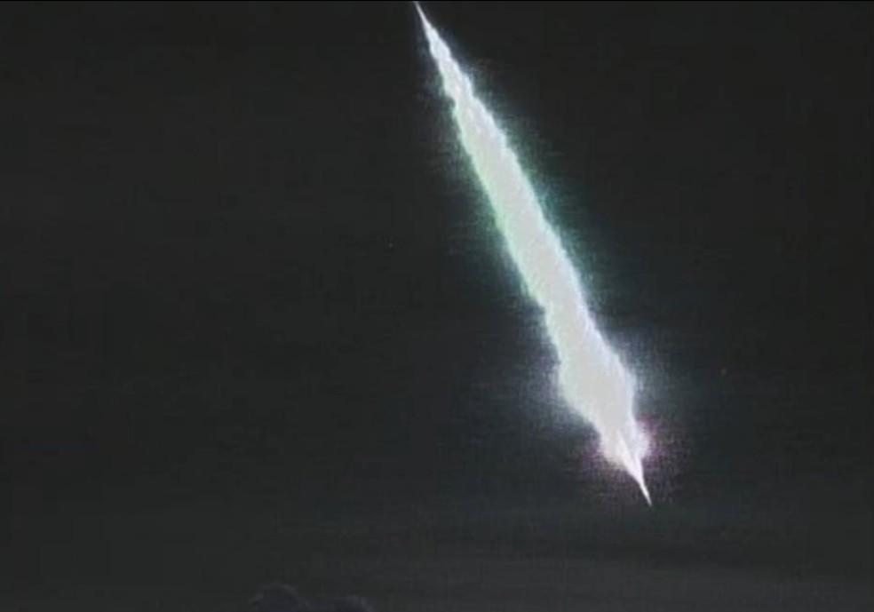 Registro do meteoro foi feito em Taquara — Foto: Carlos Fernando Jung/arquivo pessoal