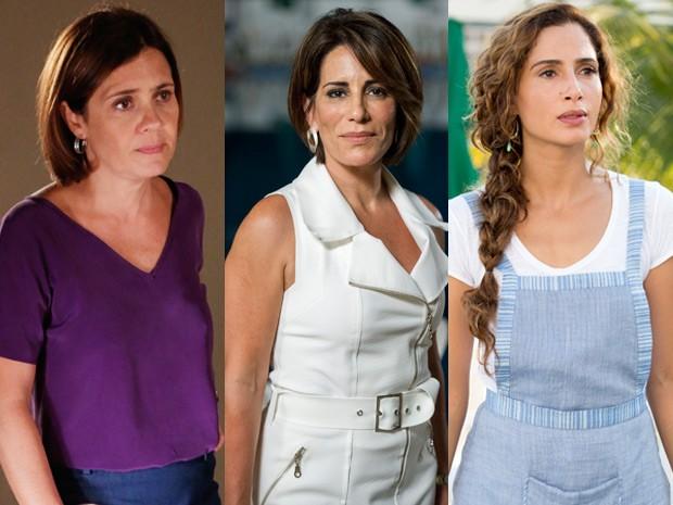 Inês, Beatriz e Regina: as três facetas da ganância (Foto: Felipe Monteiro/TV Globo)
