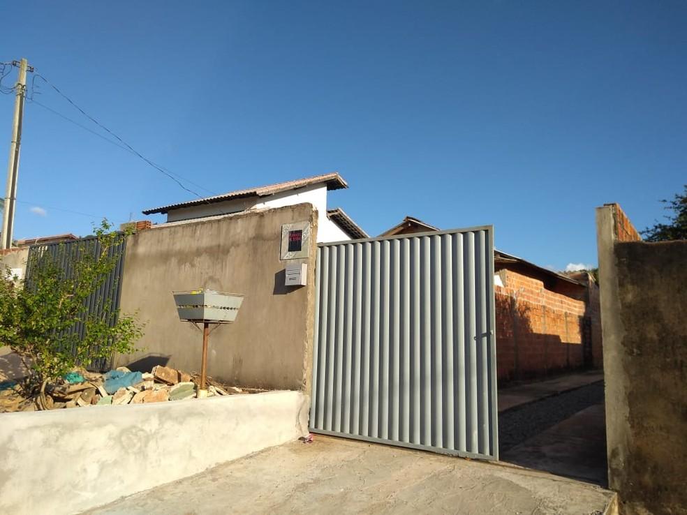 Casa onde suspeito foi preso em Cacoal — Foto: Polícia Civil/Divulgação