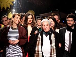 Domingos de Oliveira e equipe apresentam filme Barata Ribeiro, 716 (Foto: Edison Vara/Pressphoto)