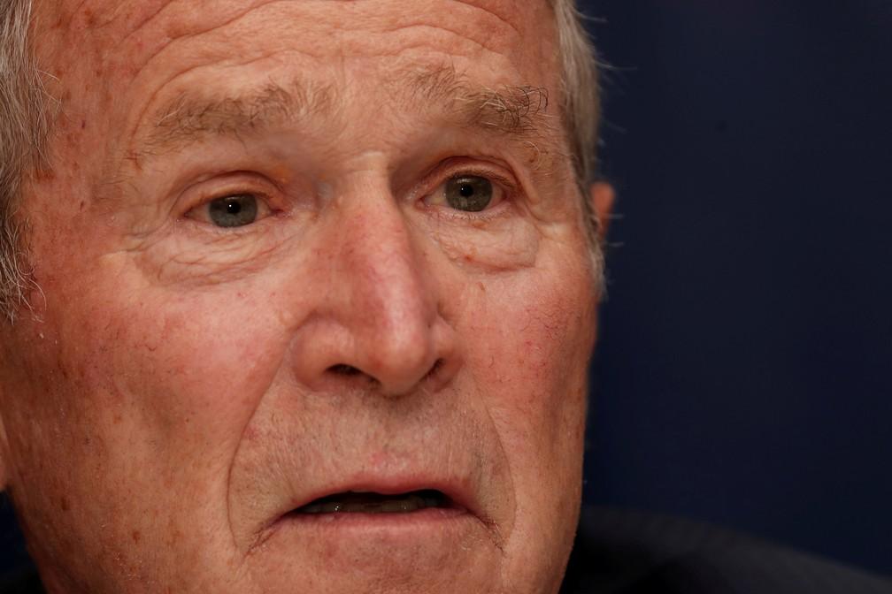 Foto de arquivo mostra o ex-presidente dos EUA George W. Bush durante o Bloomberg Global Business Forum na cidade de Nova York, em setembro de 2019 — Foto: Shannon Stapleton/Reuters/Arquivo