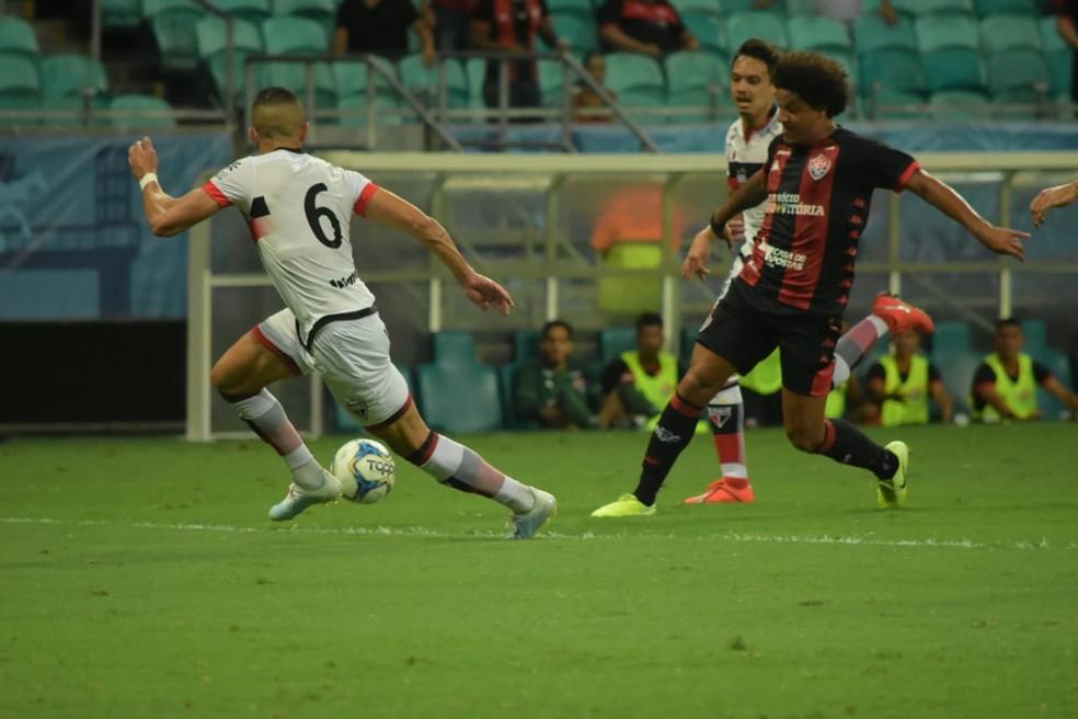 Arena Fonte Nova recebeu partida entre Vitória e Atlético-GO no último dia 24 — Foto: Letícia Martins/EC Vitória