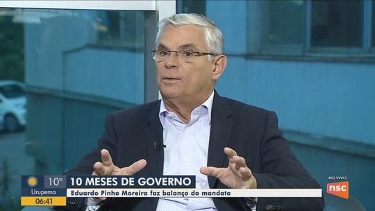 Eduardo Pinho Moreira faz balanço de 10 meses no governo de SC