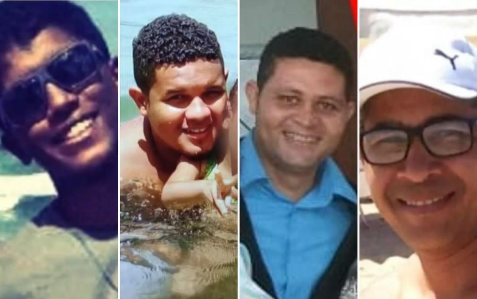 Sávio da Silva Dias, Alisson Silva Damasceno, Daniel Santos da Silva e Genivaldo da Silva Félix foram mortos em Salvador — Foto: Arte G1