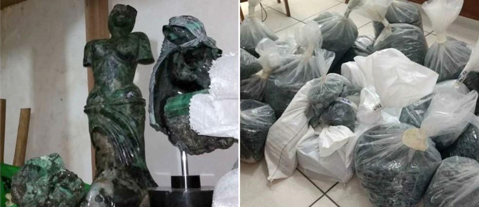 esculturas, esmeraldas, lava jato, rio de janeiro (Foto: Divulgação/Receita Federal)