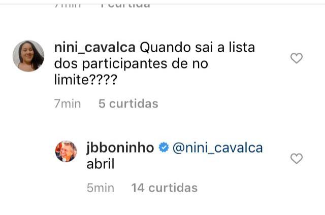 No limite': Boninho revela quando sairá a lista de participantes - Patrícia Kogut, O Globo