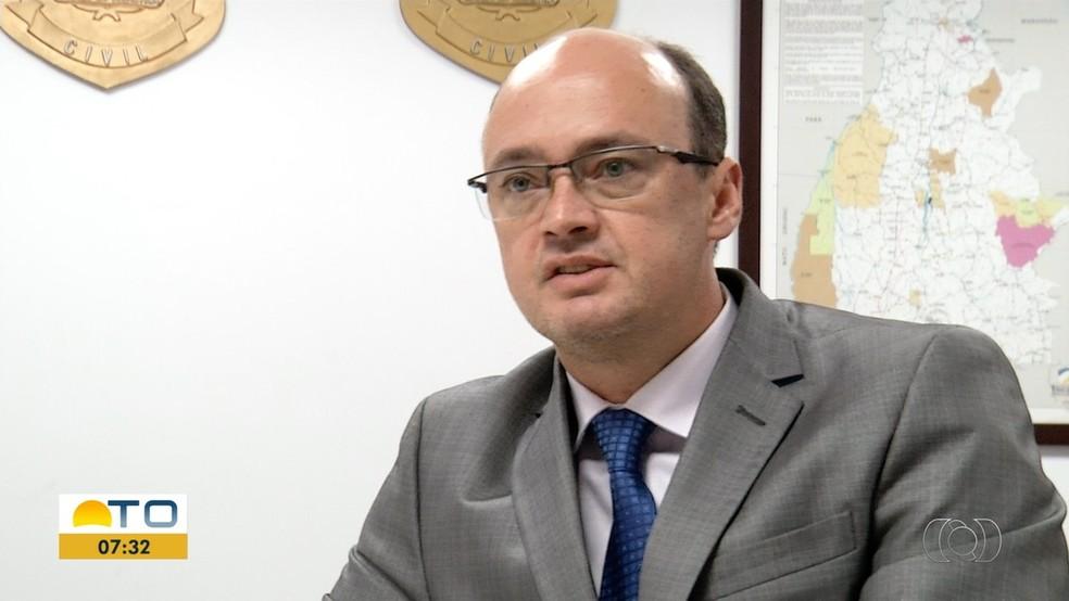 Cristiano Sampaio, secretário de Segurança Pública do Tocantins — Foto: Reprodução/TV Anhanguera