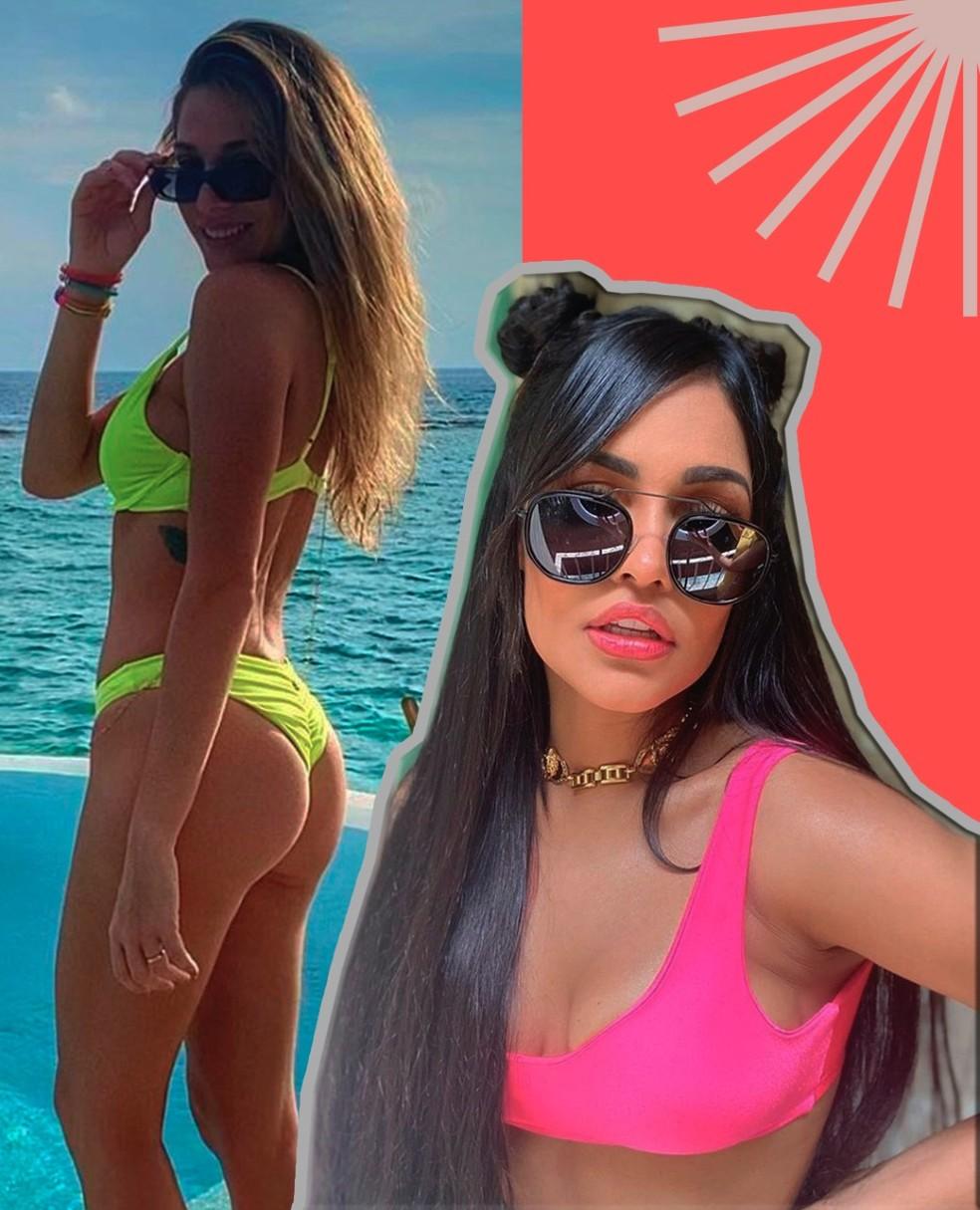 Biquíni e maiô neon são os hits do verão 2021 — Foto: @PraVcArrasar