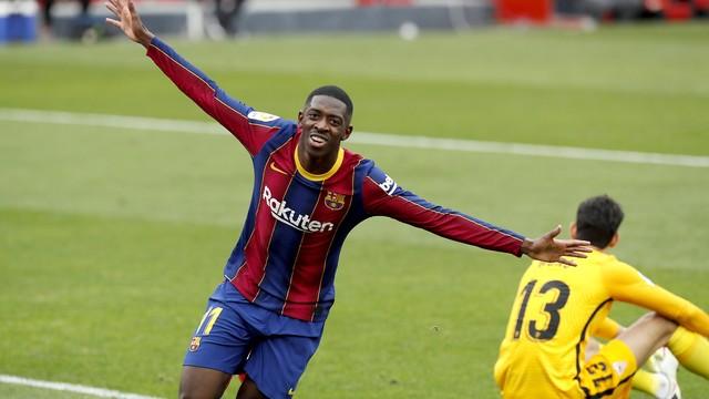 Dembélé fez seu sétimo gol pelo Barcelona na temporada