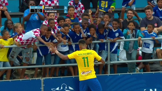 Brasil é campeão da Liga Sul-Americana de futebol de areia no Rio de Janeiro