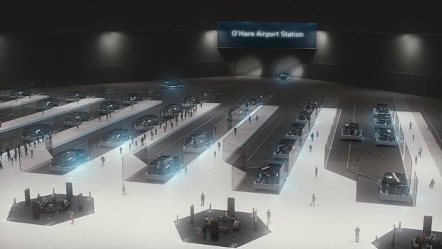Projeto de metrô de alta velocidade desenvolvido por Elon Musk (Foto: Divulgação/The Boring Company)