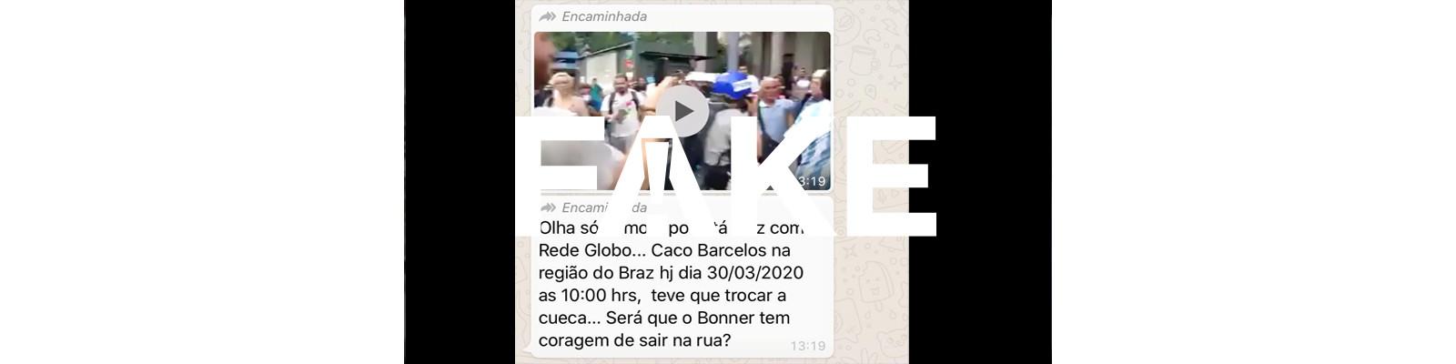 É #FAKE que Caco Barcellos foi agredido na região do Brás durante a pandemia do coronavírus
