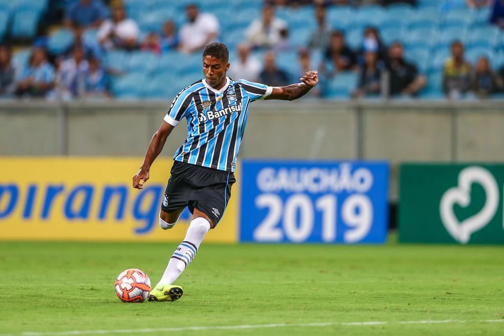 Jean Pyerre foi um dos destaques na vitória do Grêmio contra o São José — Foto: Lucas Uebel/DVG/Grêmio