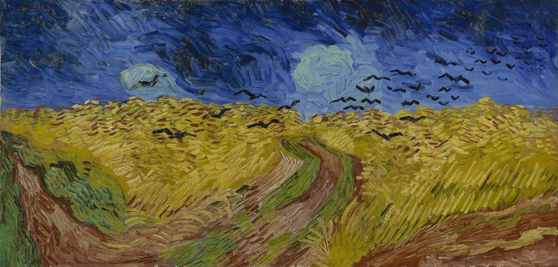 """""""Campo de Trigo com Corvos"""", Vincent van Gogh - 1890 (Foto: Van Gogh Museum)"""
