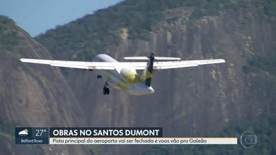 Pista principal do Santos Dumont vai ser fechada e voos transferidos para o Galeão