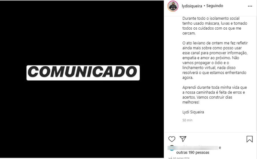Influenciadora digital da BA criticada após fazer festa em casa durante pandemia posta pedido de desculpas: 'Me expressei mal'