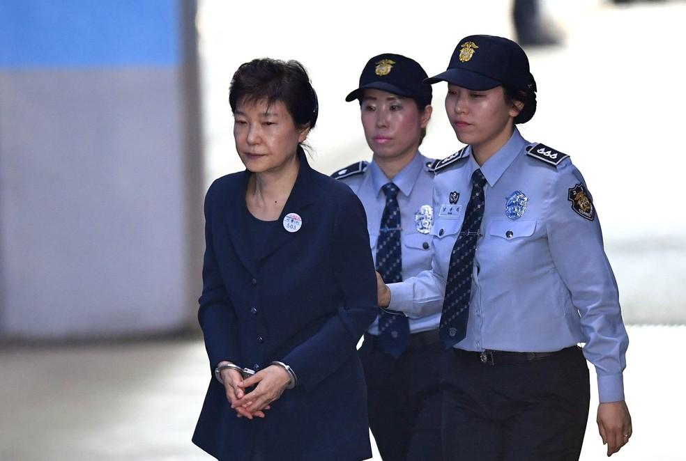 A ex-presidente deposta da Coreia do Sul Park Geun-hye (Foto: Jung Yeon-je / AFP Photo)