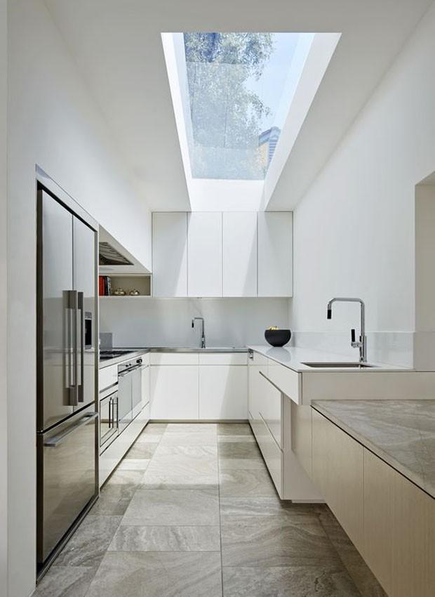 Cozinha com claraboia (Foto: Pinterest/Reprodução)