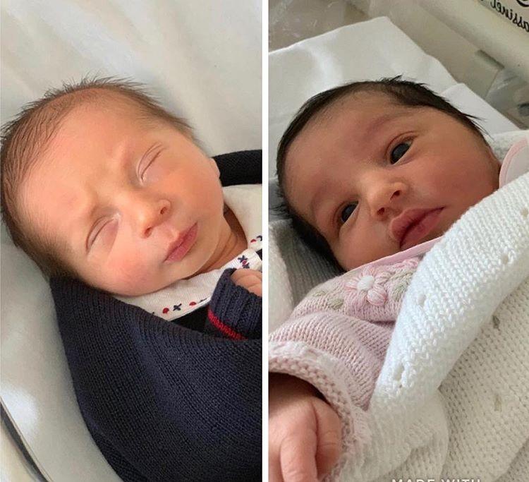 Antonie e Élise, filhos gêmeos de Erick Jacquin e Rosângela (Foto: Reprodução/Instagram)