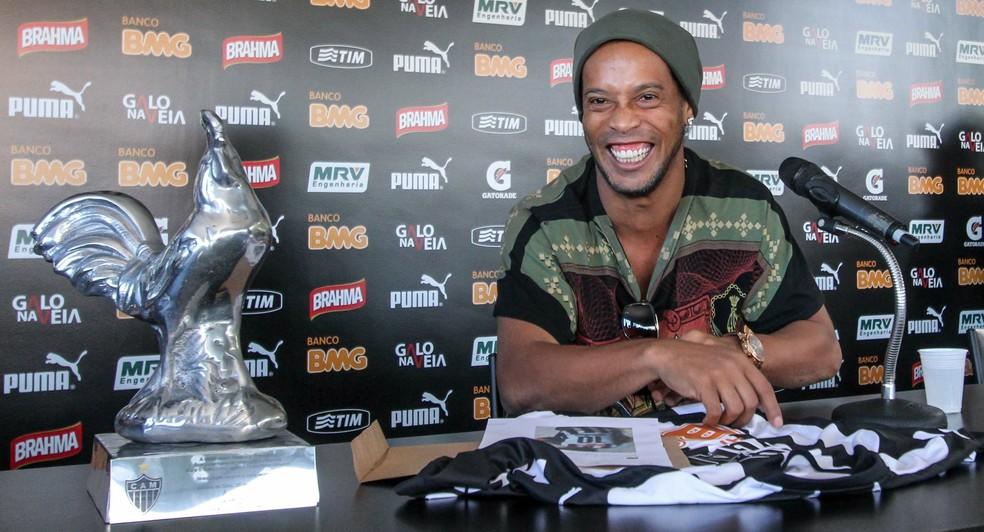 Ronaldinho Gaúcho fez 88 jogos pelo Atlético-MG e fez 28 gols (Foto: Bruno Cantini/ Atlético-MG)