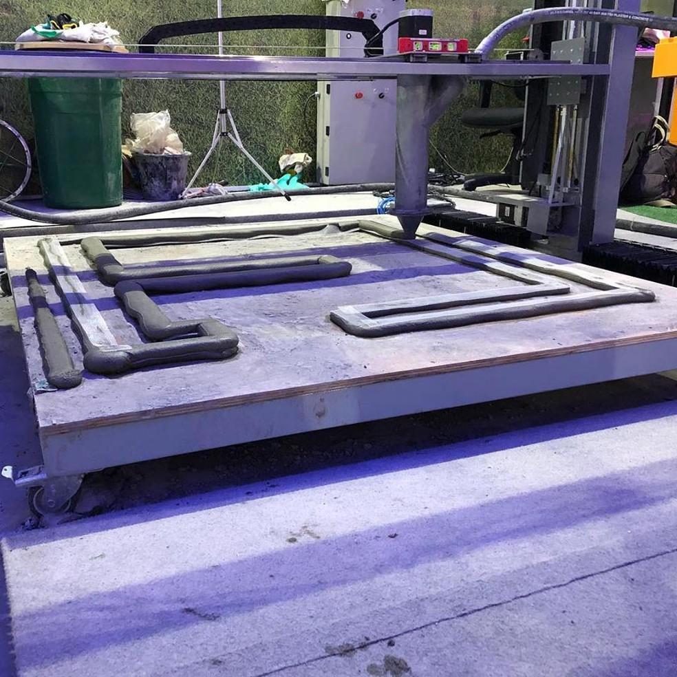Máquina 3D de concreto da estudante do DF, Juliana de Almeida Martinelli — Foto: UniCeub/Divulgação