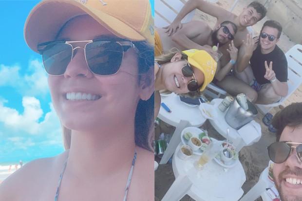 Marilia Mendonça curte dia de folga na praia com amigos (Foto: Reprodução/Instagram)