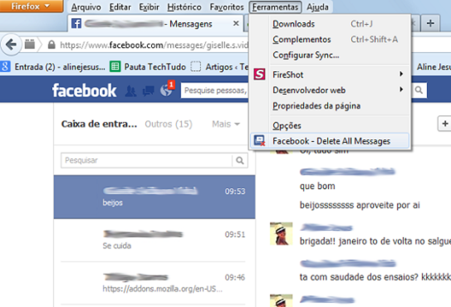 Como Apagar Fotos Do Face: Facebook Delete All Messages