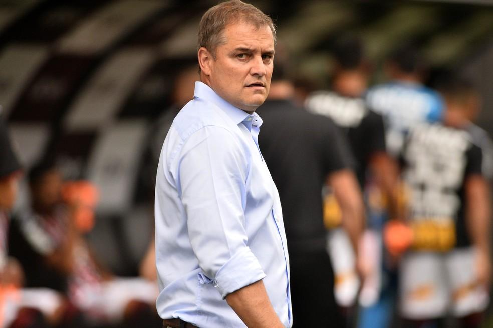Despedida contra o Corinthians: Aguirre deixa o comando do São Paulo — Foto: Marcos Ribolli