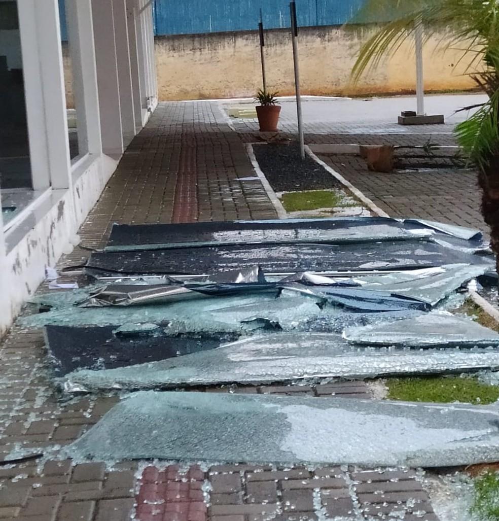 Ventania causou danos em todo município de Ilhota, no Vale do Itajaí — Foto: Prefeitura de Ilhota/Divulgação