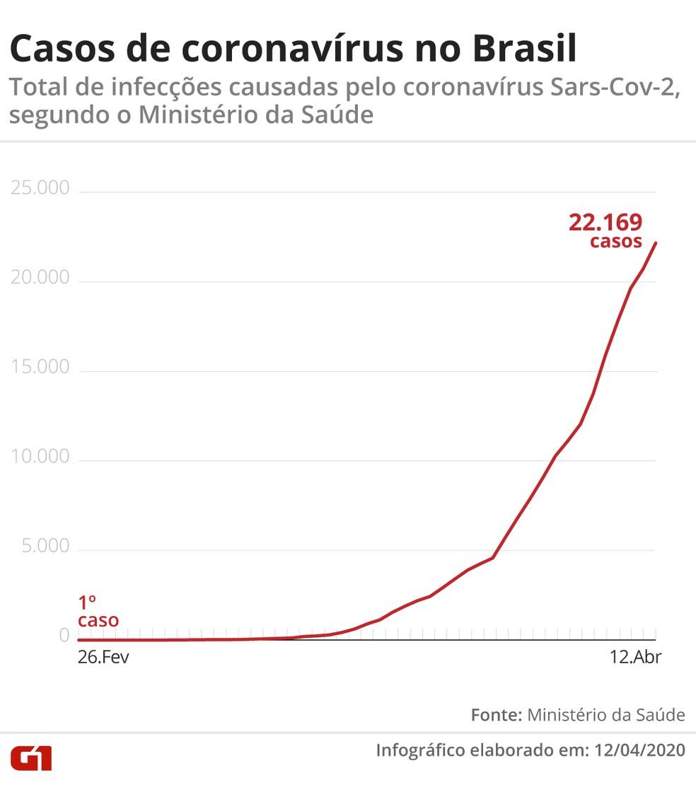Casos de Covid-19 no Brasil  — Foto: Guilherme Pinheiro/ G1