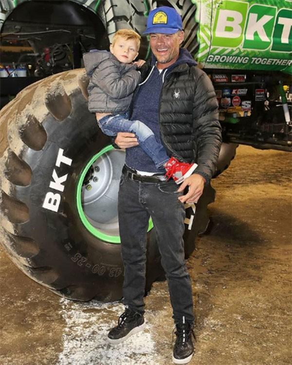 Josh Duhamel e o filho (Foto: Instagram)
